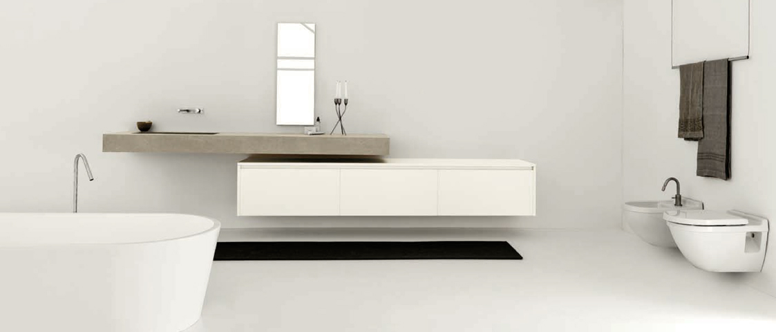 Bagno Twenty Kerlite by Modulnova  |  design Andrea Bassanello